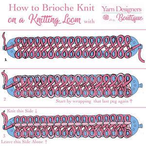 How to Brioche on a Knitting Loom in One Color