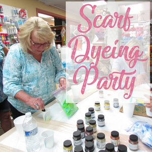 Christmas Scarf Dyeing Party, December 14th!