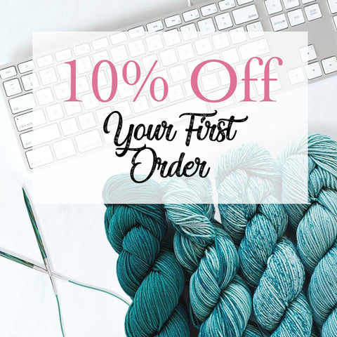 secret link for 10% off your first order of yarn and art supplies when you sign up for email newsletter