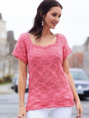 Patons Venus Yarn Breezy Summer Tunic Pink