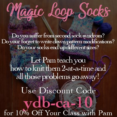 knitting class how to magic loop and knit two socks at the same time online knitting classes with pam grushkin