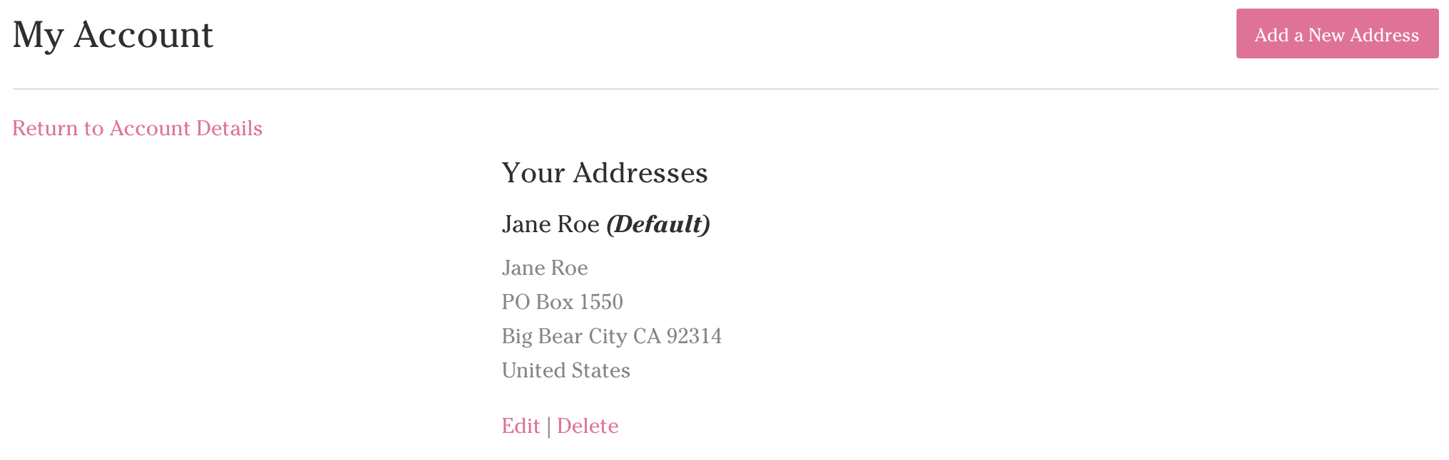 edit address on my yarn account