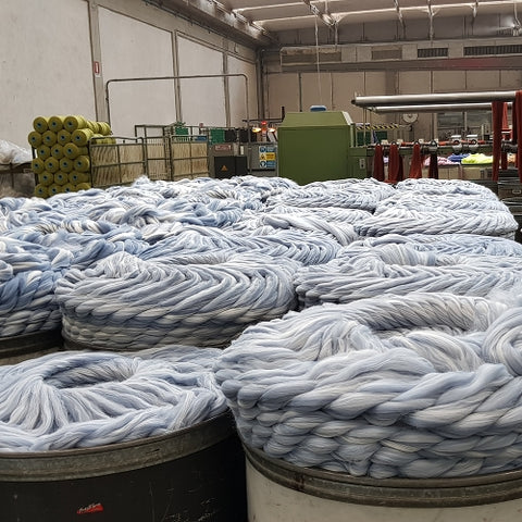 how yarn is made acrylic fibers pre dyed