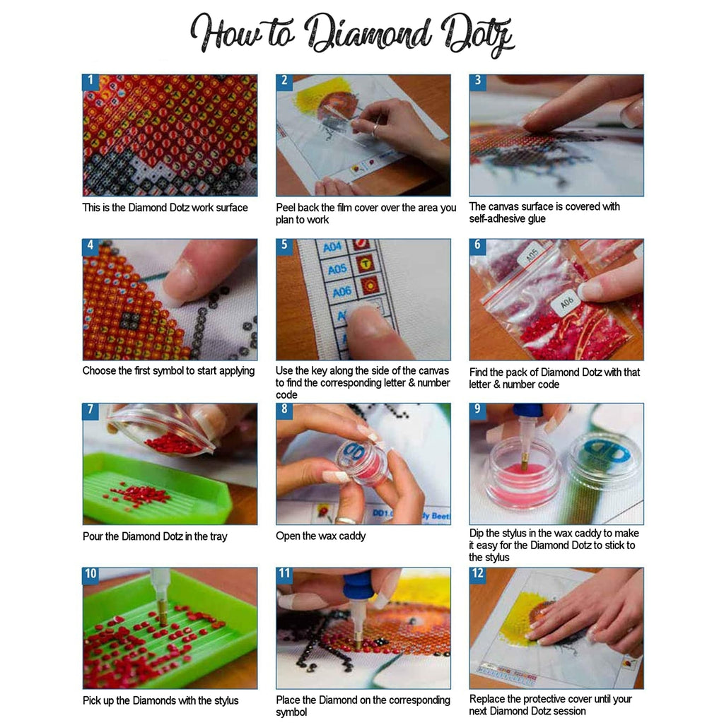 how to create diamond dotz instructions in english with pictures