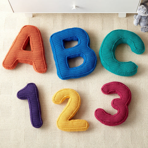 free crochet pattern chart letters and numbers crochet wording baby toys