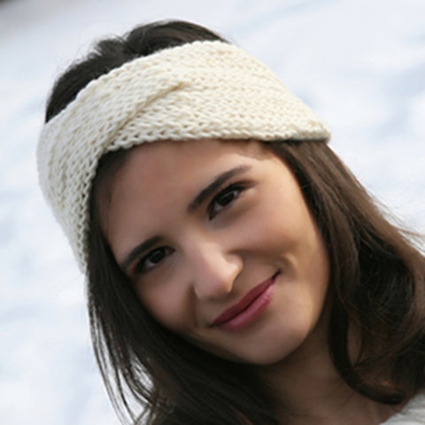free loom knitting pattern turban twisted headband