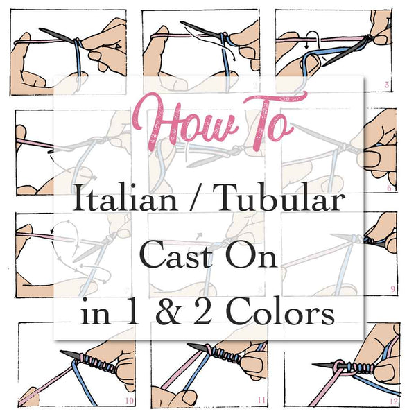 How to do an italian cast on in two colors, how to tubular cast on with lifeline for raglan sweaters