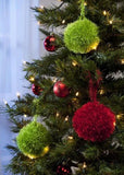 easy diy christmas tree decorations pom poms