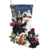 "Stocking Making Kit, Black Bear Bonfire, 18"" Long Stocking"