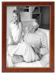 bullnose picture frame redwood