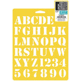 Stencil Mania 7X10 Inch Basic Alphabet 1 Inche Letters #0640