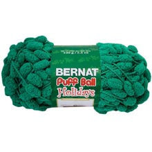 bernat puff ball yarn garland green