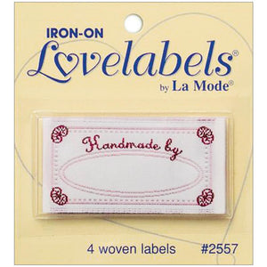 iron lon lable for hand knit sweaters