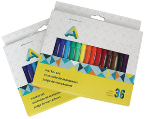 two 36 packs of art alternatives color markers with a single fine tip