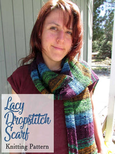 beginners lacy easy lace scarf knitting pattern