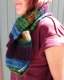 lacy self striping scarf how to drop stitch like a pro
