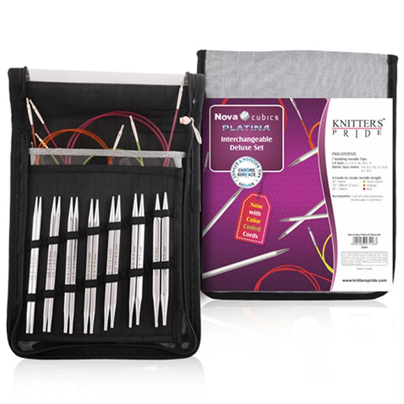 Nova Cubics Platina Interchangeable Deluxe Set by Knitter's Pride
