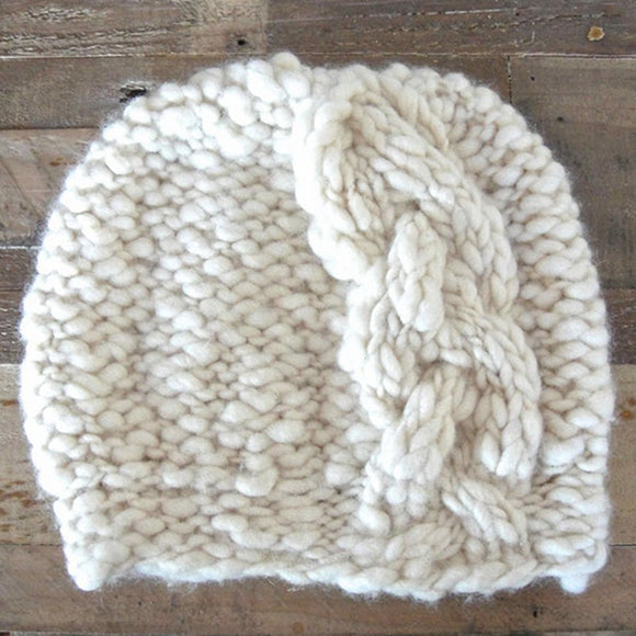 Side Cable Hat Knitting Kit, by Knit Collage