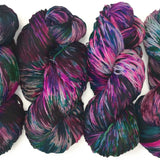 hand dyed dk weight yarn floral colors