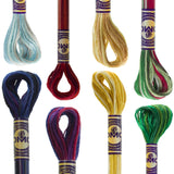 DMC 6 Strand Cotton Embroidery Floss Holiday Pack with Variegated Colors
