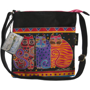 Laurel Burch crossbody bg with cats