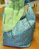 heavy duty project bag with hole for yarn pull through