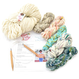 knit collage yarn soft ivory sister and seashore mini skeins