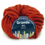 bulky grande yarn new york yarns rust 04