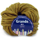 grande yarn new york yarns olive green 02