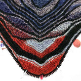 papillon butterfly shawl kit pattern marin melchior in purple red and black