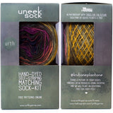 uneek sock knitting kit uneek sock 2 pack fo hand dyed self striping yarn