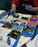alcohol inks background tiles