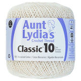 one ball of aunt lydias crochet thread size 10 in  antique off white