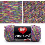 red heart super saver variegated yarn artist print