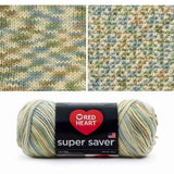 red heart super saver variegated yarn aspen print