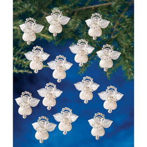 tiny sparkling angels tree ornaments beading kit