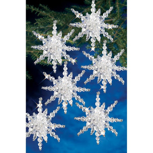 diy snowflake and star tree decorations
