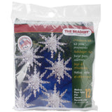 beaded crystal snowflakes for christmas tree ornament