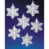 Snowflake Crystal Formations Christmas Decorations, Beading Kit #5532
