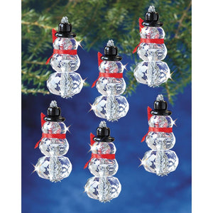 snowman ornaments for christmas tree beaded snowmen