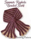 Summer beaded keyhole scarf knitting pattern