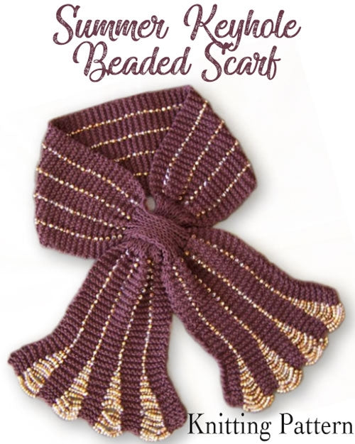 beaded scarf knitting pattern designer scarves