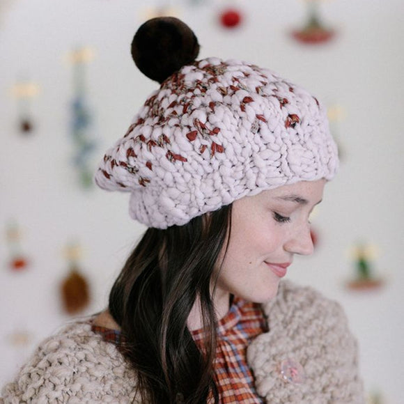 Pixelated Beret Knitting Kit