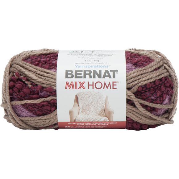 bernat mix home bordeau 4 yarns in one