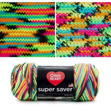 red heart super saver variegated yarn blacklight