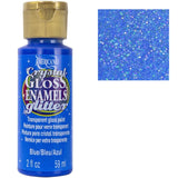 decoart glittery glass paint blue DAGG05