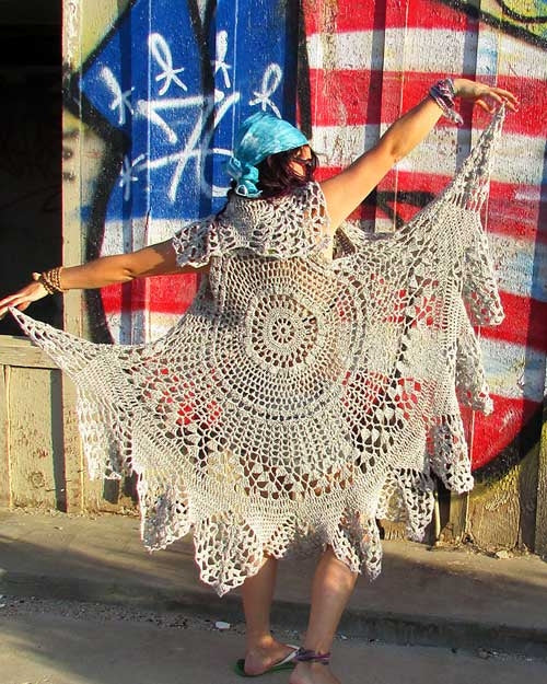 bohemian crocheted vest