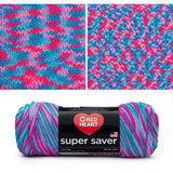 red heart super saver variegated yarn bon bon print