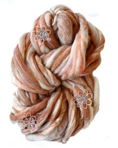 Toast, Jumbo Wool Knitting Yarn, Knit Collage, Flower Child