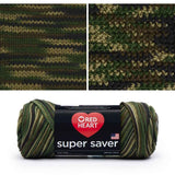 red heart super saver variegated yarn camouflage